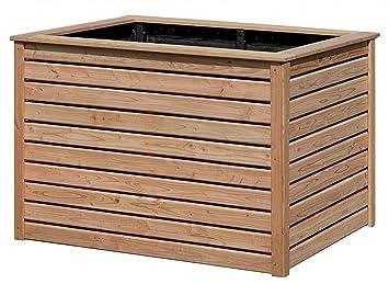 Hochbeet Aus Holz Larche 125 X 85 X 80 Cm Fur Garten Amazon De Garten
