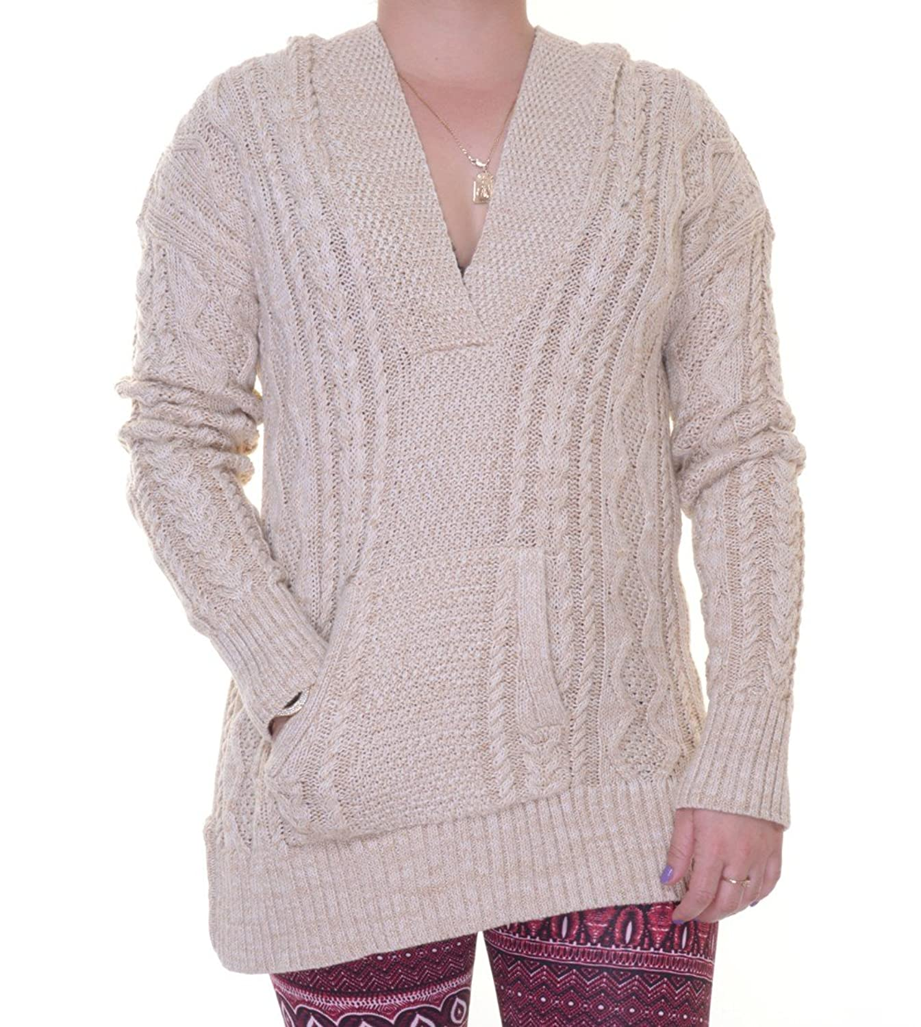 Ralph Lauren Womens Cable Knit Front Pocket Pullover Sweater