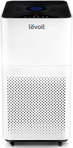 LEVOIT Air Purifier for Home Large Room with True HEPA, Filter for Allergies and Pets, Mold, Pollen, Dust, Quiet Odor Eliminators for Bedroom, 463 Sq. Ft, LV-H135, WHITE