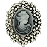 YAZILIND Vintage Cameo Queen Lady Brooch Jewelry For Wedding