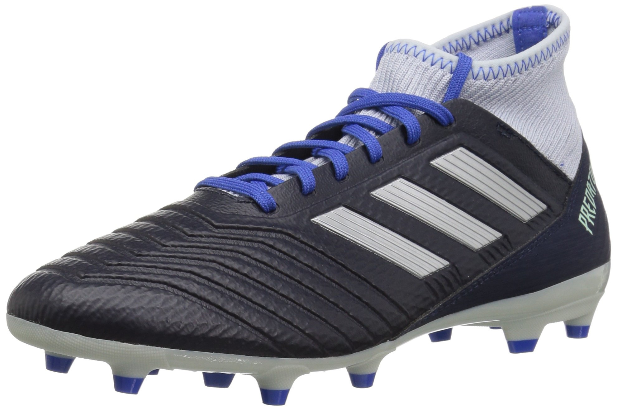 adidas Women's Predator 18.3 Firm Ground Soccer Shoe, Legend Ink/Silver Metallic/aero Blue, 10.5 M US