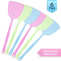 Samoa USB Electric Fly Swatter/Electric Fly Swats Electrical Charge on Metal Grill Suitable for Indoor and Outdoor Use with Handle (Green)
