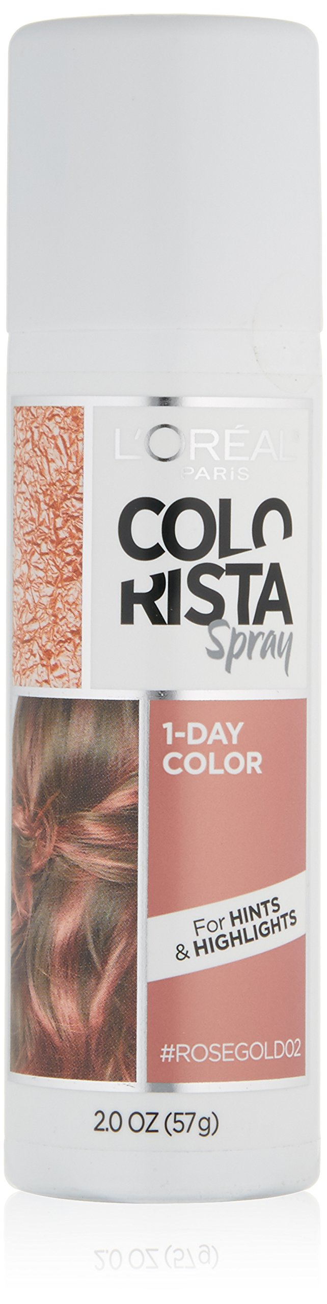 L'Oreal Paris Hair Color Colorista 1-Day Spray, Rosegold, 2 Ounce