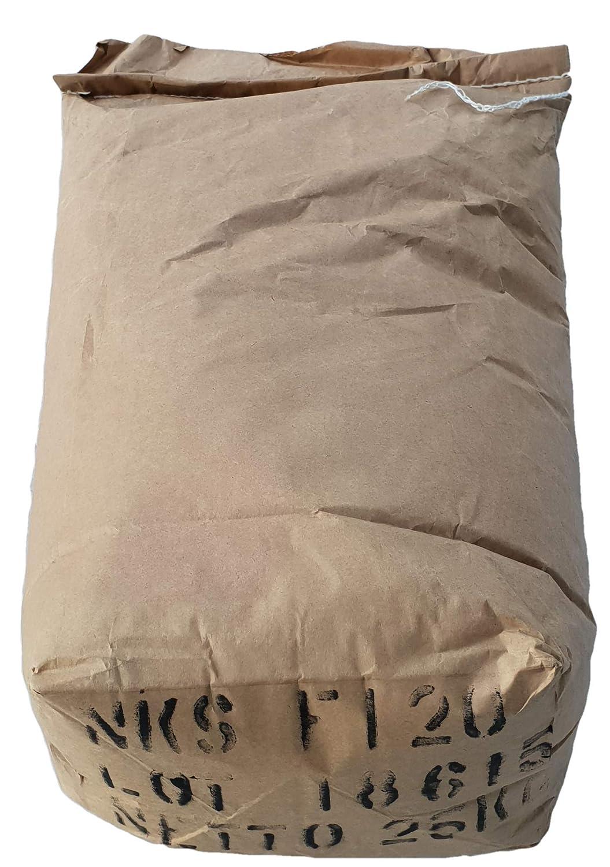 LordsWorld - 25 kilogramos de corindón rojo-marrón 14 malla de ...