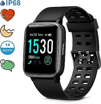 Glymnis Reloj Inteligente Smartwatch Impermeable IP68 Pulsera ...