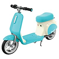 Razor Pocket Mod Petite Miniature Euro-Style Electric Scooter for Ages 7+, Vintage-Inspired Design, Hub-Driven Motor, Pneumatic White Wall Tires, Up to 40 Minutes Ride Time