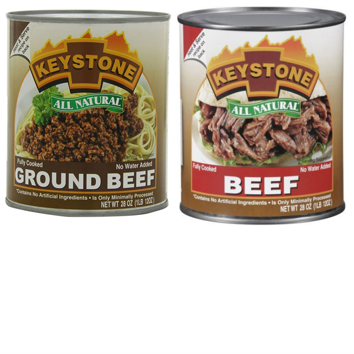 Bundle Keystone Canned Meats Variety Pack With Keystone Ground Beef and Keystone Beef. Convenient Shopping For 2 Popular Canned Meat Selections In 1 Order. Surprisingly Delicious!