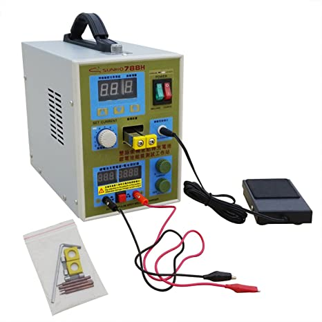 ECO-WORTHY 788H - Soldador de doble pulsación LED con cargador de baterí