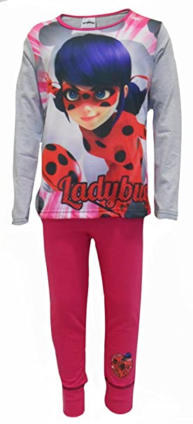 Ladybug - Pijama - para niña rosa Pink / Grey / Red / Multicoloured 4-