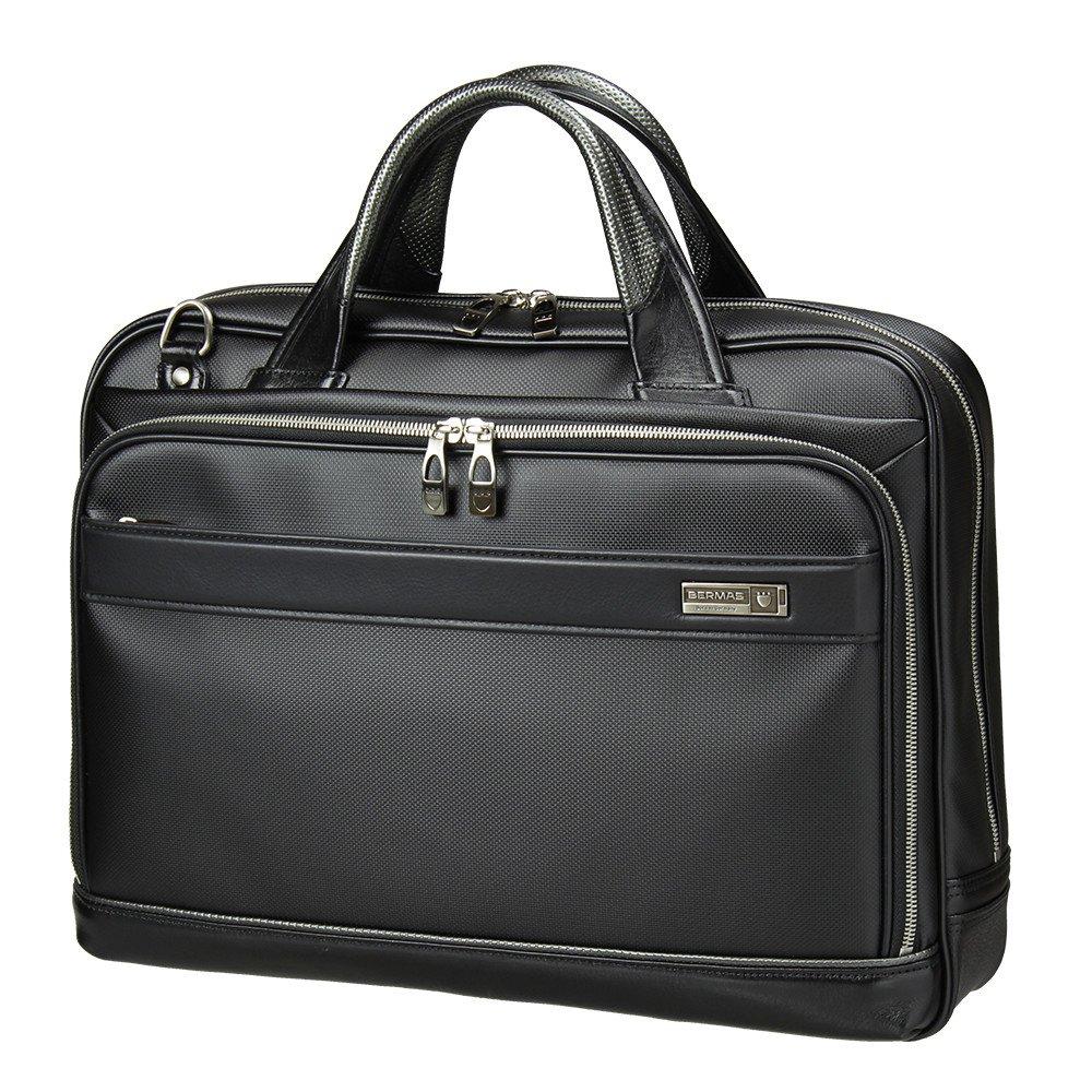 [バーマス]BERMAS EXCEED ビジネスバッグ ブリーフケース 2層 キャリーオン機能 豊岡鞄 日本製 ショルダーバッグ メンズ 60036 (ブラック) B01JG7XF1S