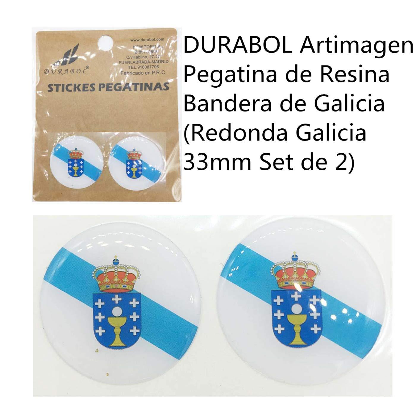 GALLEGA DURABOL Artimagen Pegatina de Resina Bandera de Galicia Rectangular Galicia 26x16mm Set de 6