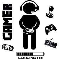 OOTSR Pegatinas de Pared para Niños, Boy Gamer Loading Controller Pegatinas de Pared, Murales Adhesivos y Pegatinas de…