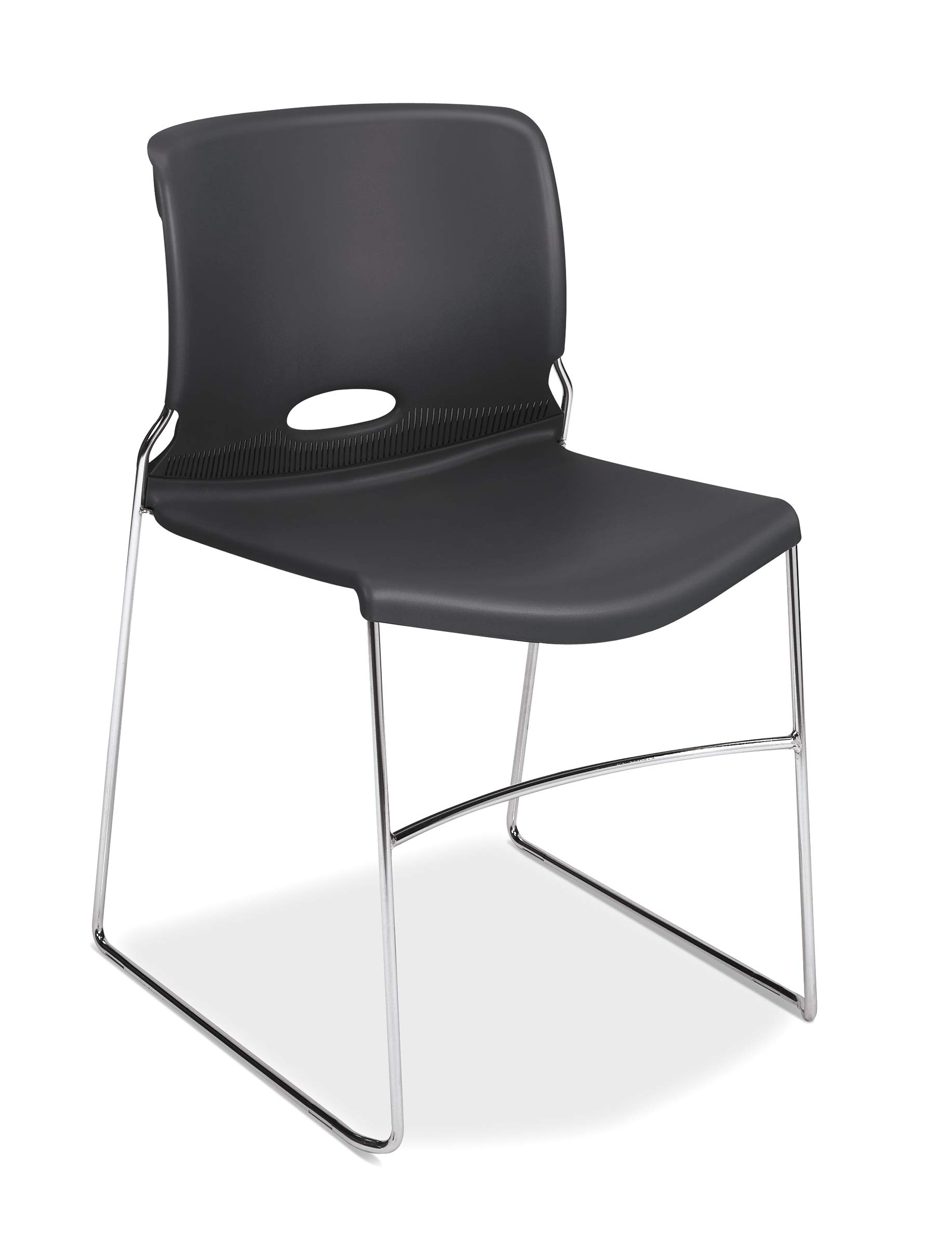 HON Olson Stacking Chair - Guest Chair for Office, Cafeteria, Break Rooms, Training or Multi-Purpose Rooms, Lava, 4 pack (H4041) by HON