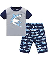 com hugbug boys shark pajamas set t clothing hugbug boys shark pajamas set 2 7t