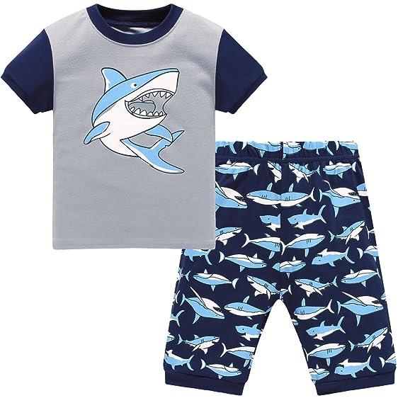 com hugbug boys shark pajamas set t clothing hugbug boys shark pajamas set 2 7t 3 years blue