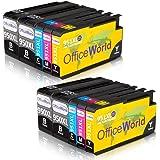 OfficeWorld Reemplazo para 950XL 951XL Cartuchos de tinta Alta Capacidad Compatible para Officejet Pro 8600 8610 8620 8630 8640 8660 8615 8625 8100 251dw 276dw (4 Negro, 2 Cian, 2 Magenta, 2 Amarillo)