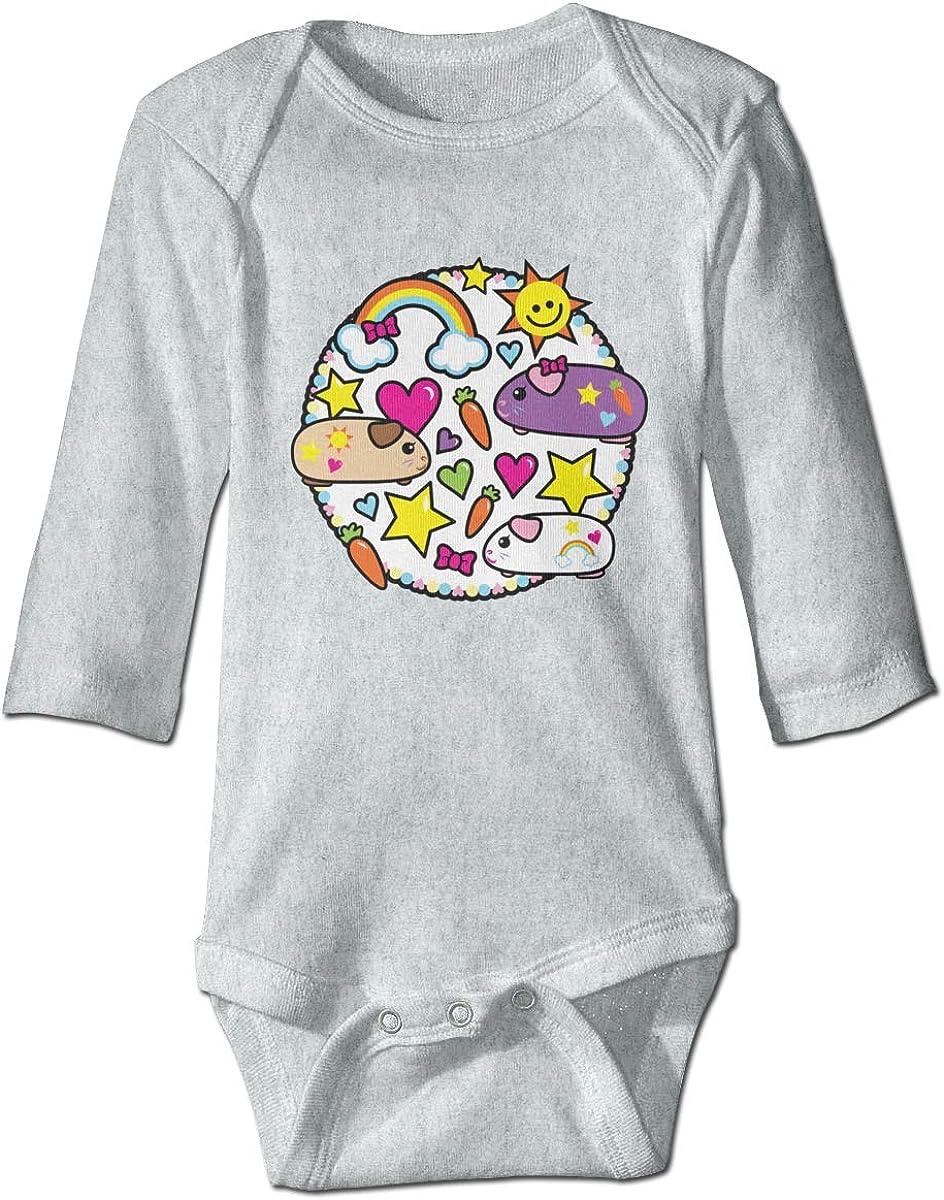 Marsherun Babys Boys Girls Pop Pigz Guinea Pig Kawaii Long-Sleeve Rompers Playsuits