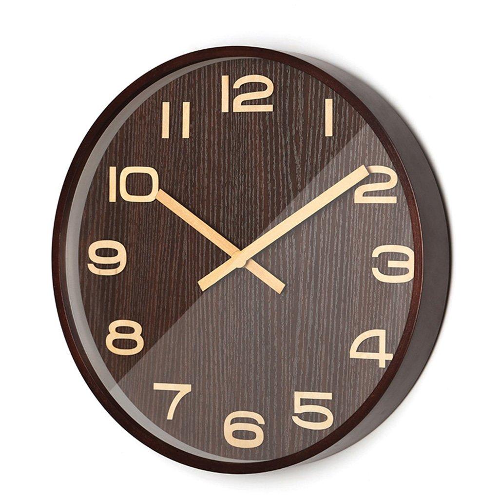 ZWD サイレントリビングルームウォールクロック、ベッドルームコーヒーショップレストランバーバーショップホテルスタディ教室リビングルームウォールクロック木製壁時計25.6-40.8CM 飾る (色 : A, サイズ さいず : 35.8 * 35.8CM) B07FRX216P 35.8*35.8CM|A A 35.8*35.8CM