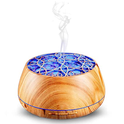 400ML Essential Oils Aromatherapy Diffusers Wood Grain