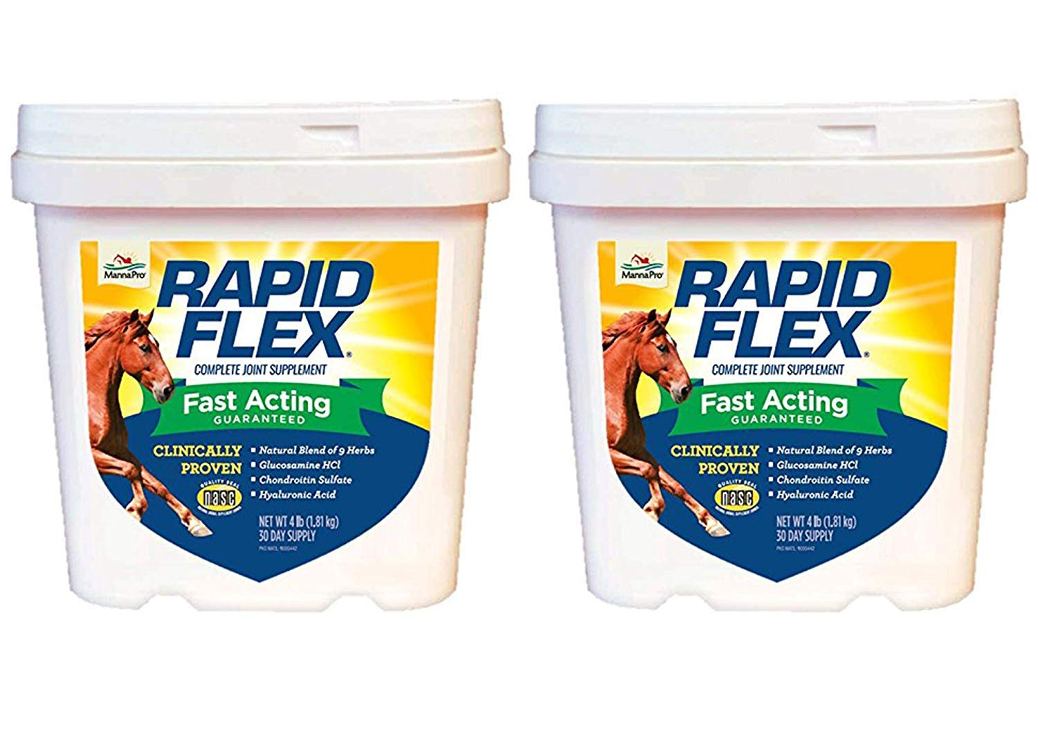 Manna Pro Rapid Flex Supplement for Horses, 4 Pounds (Pack of 2) by Manna Pro