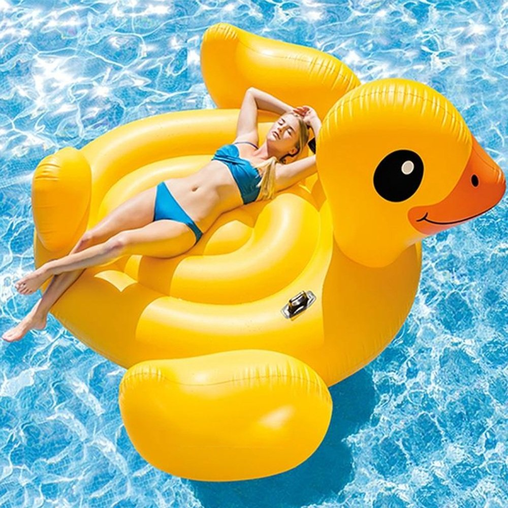 Fly Small Yellow Duck Floating Row Water Floating Row Recreation Floating Row Floating Ring Mount Inflatable Floating Row by Fly (Image #4)