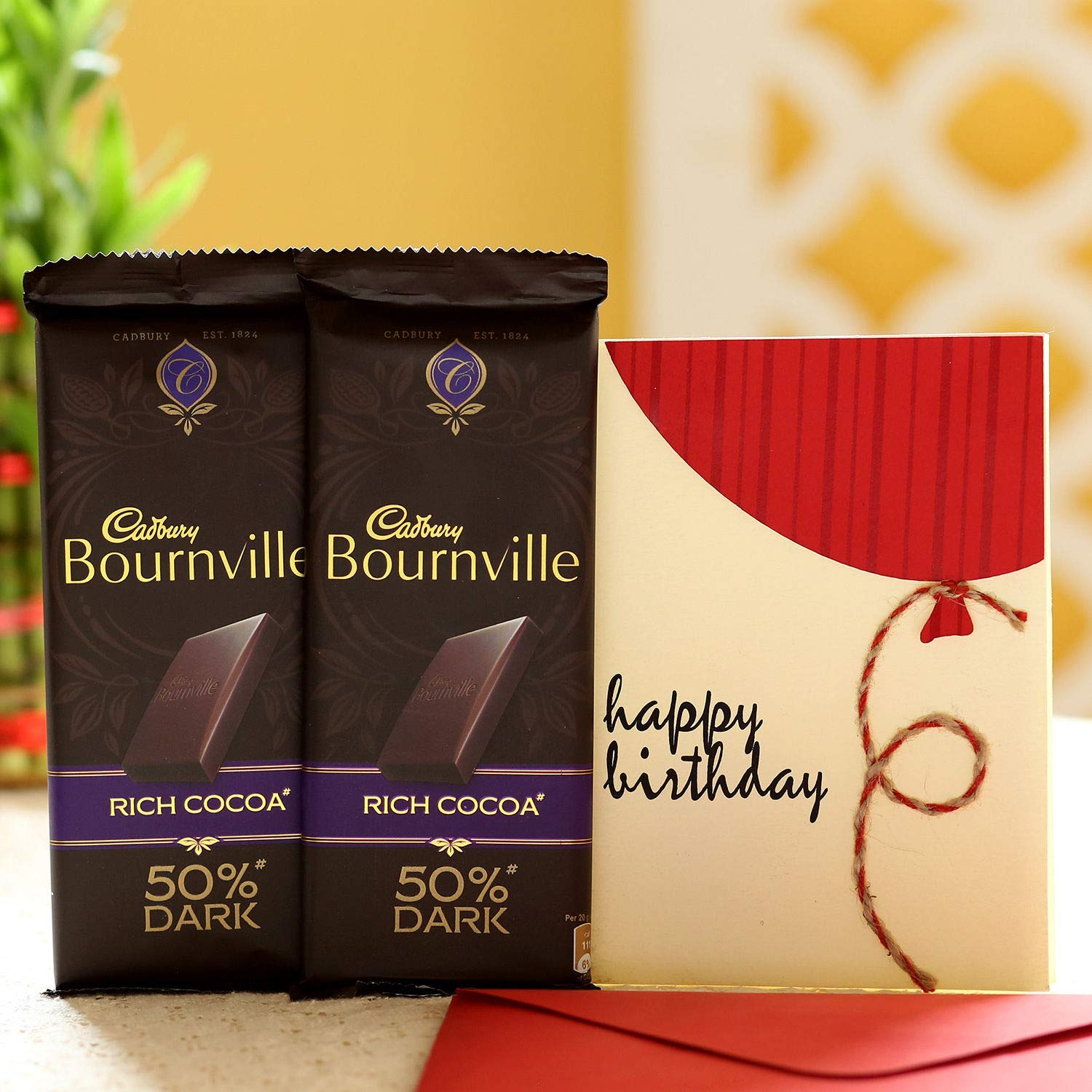 Ferns N Petals Birthday Wishes Bournville Chocolates Christmas Gift Happy New Year Gift Amazon In Grocery Gourmet Foods