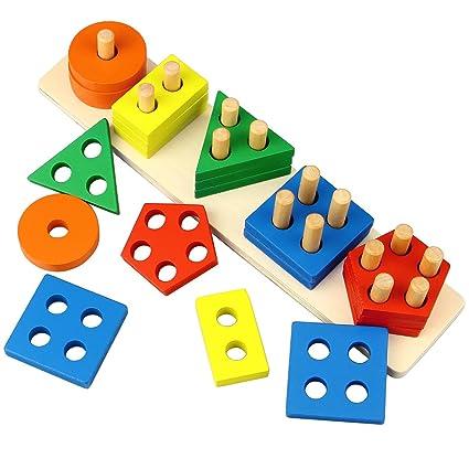 fe08b025f1d2 Amazon.com  Dreampark Wooden Educational Toys