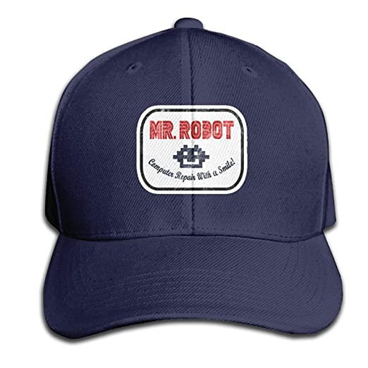 Unisex Mr Robot - Computer Repair with A Smile Trucker Hats