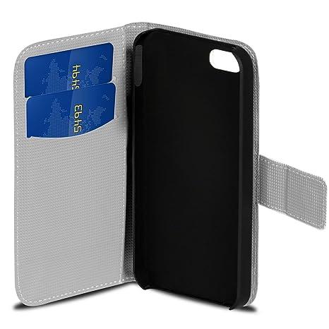 iPhone 4, 4S patrón Funda Tipo Libro, Piel sintética ...