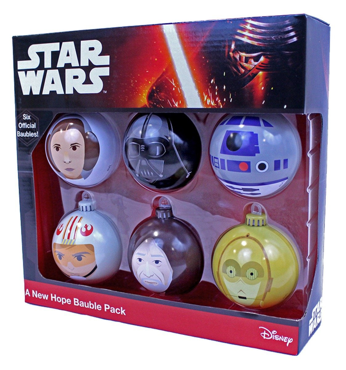 Star Wars A New Hope Christmas Tree Ornaments (6 pack) Numskull