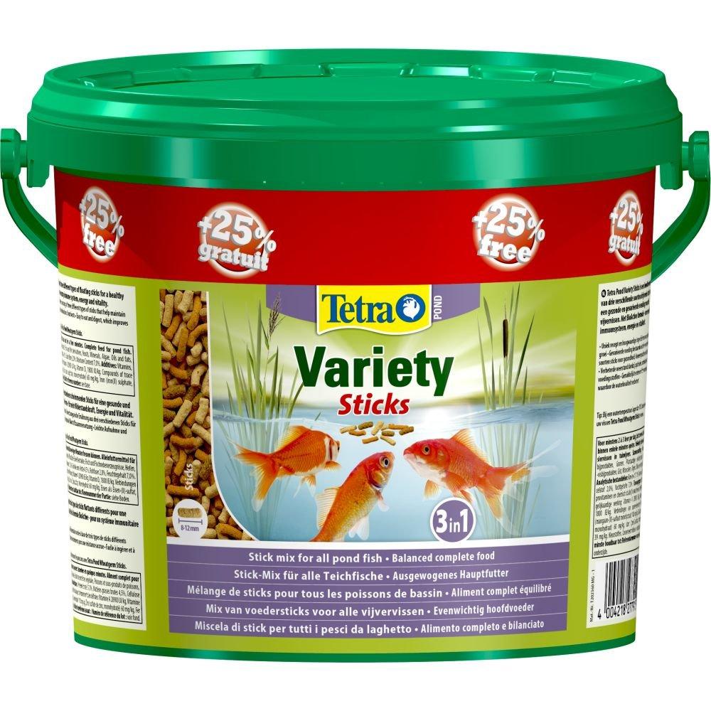 Tetra Pond variété Sticks Nourriture pour poisson 4L + 25%... (Seau de 5litre) Spectrum TE277915