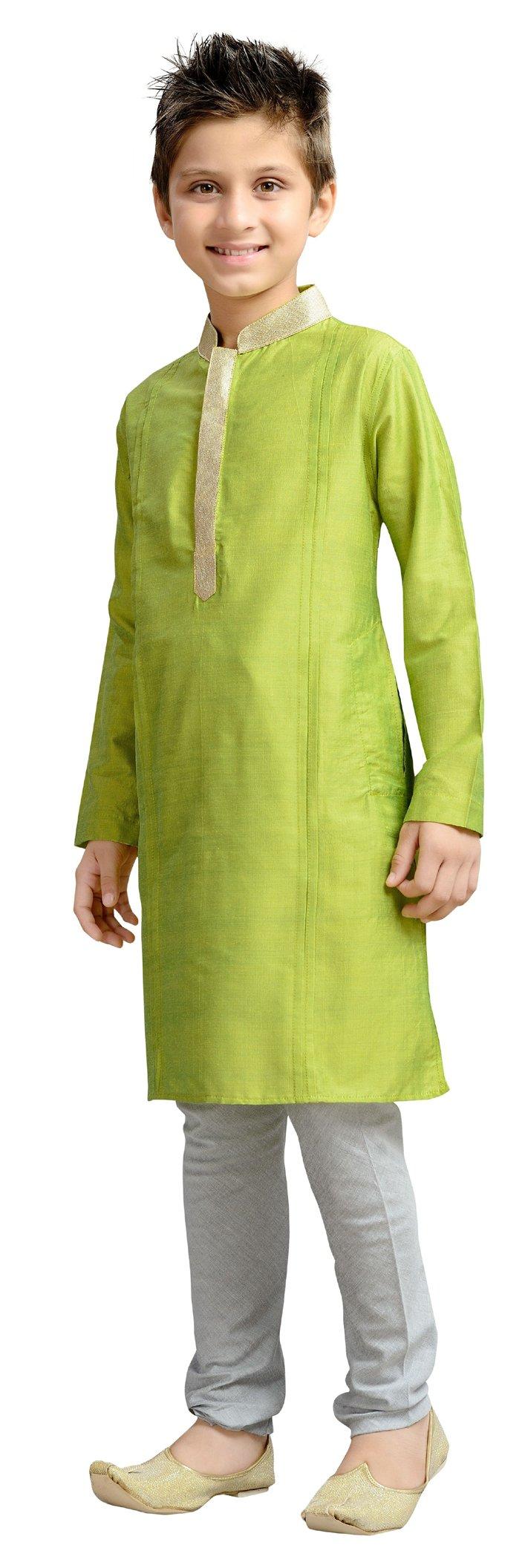 Cellora Churidar Kurta Pajama for 1-14 Years Kids Dupion Silk Party Wear Ethnic Dress by Cellora (Image #3)