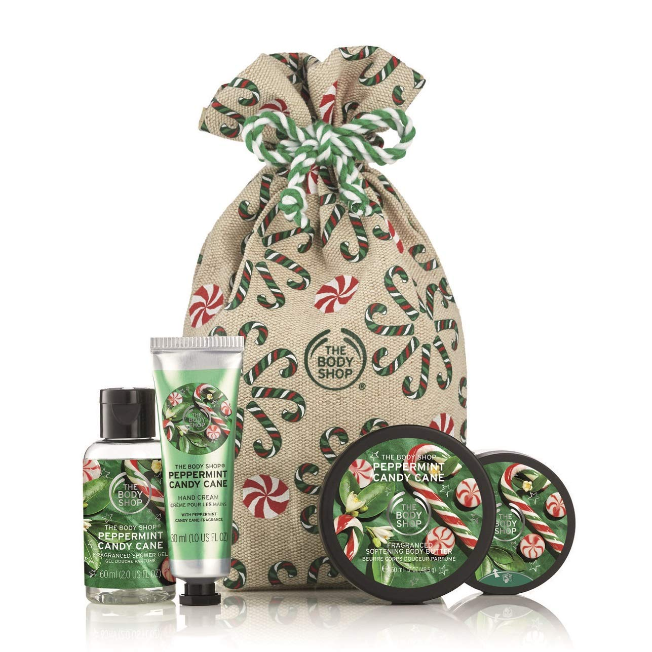 Amazon Com The Body Shop Festive Sack Of Peppermint Candy Cane