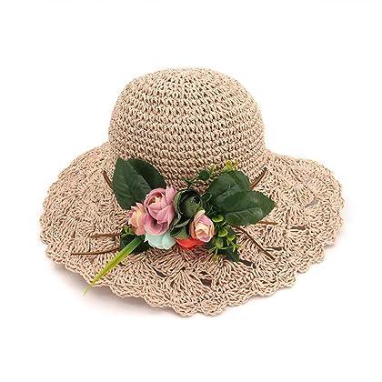 Eric Hug hat Women Female Wide Large Brim Straw Hat Sunscreen Bucket Cap  Foldable Beach Hat 93b3b9e3ebf5