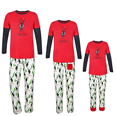 zrck boysgirls pajamas size 6 12mkids holiday matching family christmas pajama