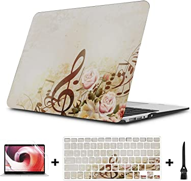 MacBook Pro Case Golden Mehndi Pattern Pattern MacBook Air 13 A1932 Plastic Case Keyboard Cover /& Screen Protector /& Keyboard Touch ID