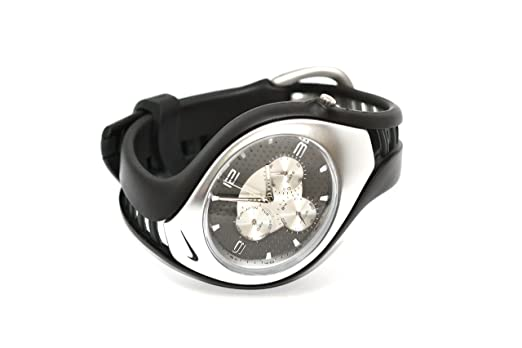 5e984ffeb7 Amazon   Nike Triax Swift 3iブラックアナログスポーツ腕時計   時計 ...