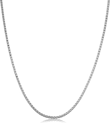 20 inch Kooljewelry Sterling Silver 1 mm Round Snake Chain Necklace