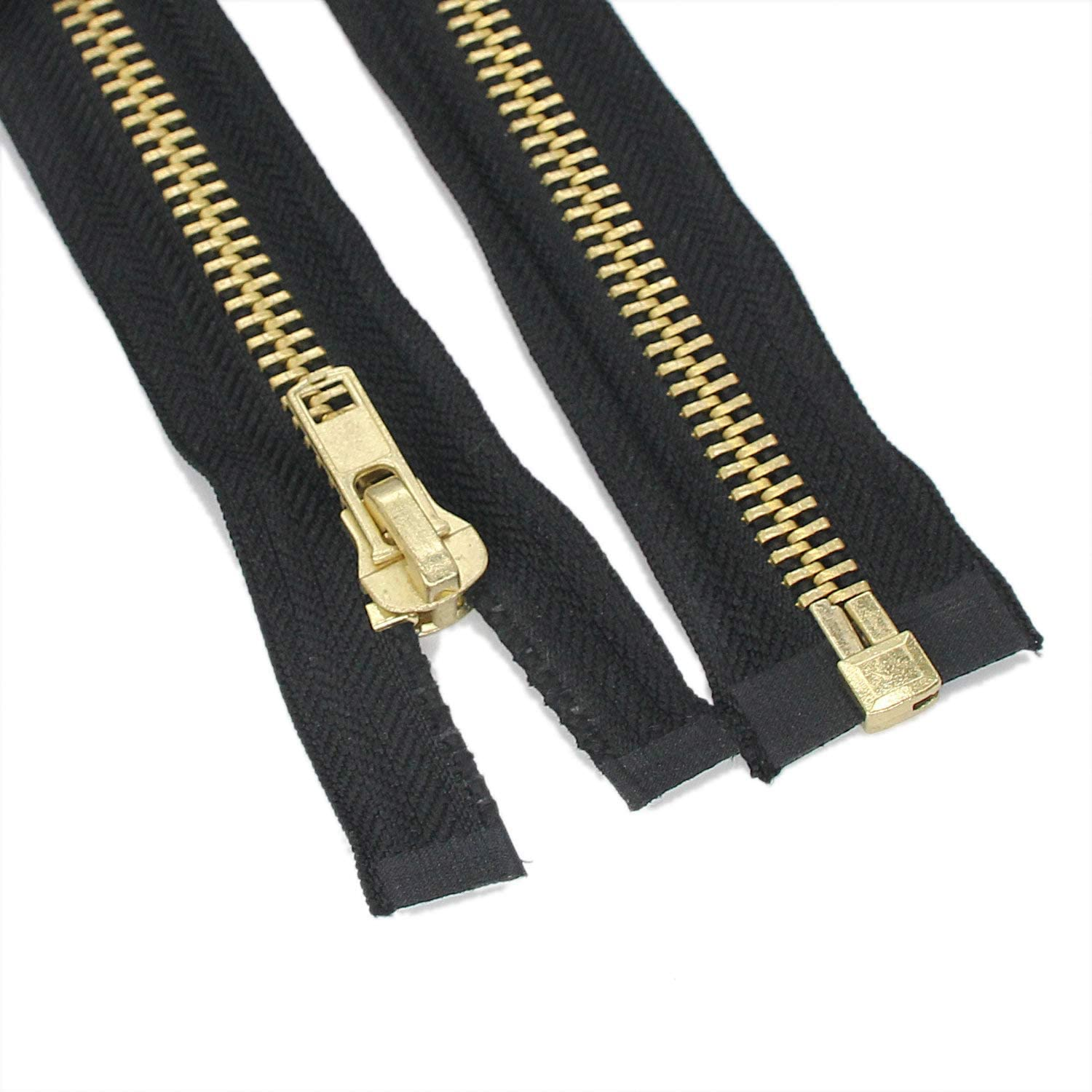 YaHoGa 2PCS #5 25 Inch Antique Silver Separating Jacket Zipper Y-Teeth Gunmetal Metal Zippers for Jackets Sewing Coats Crafts 25 Anti-Silver