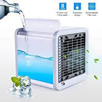 MOSHTU Mini Portable Air Cooler Fan Arctic Air Personal Space Cooler The Quick & Easy Way to Cool Any Space Air Conditioner Device Home office