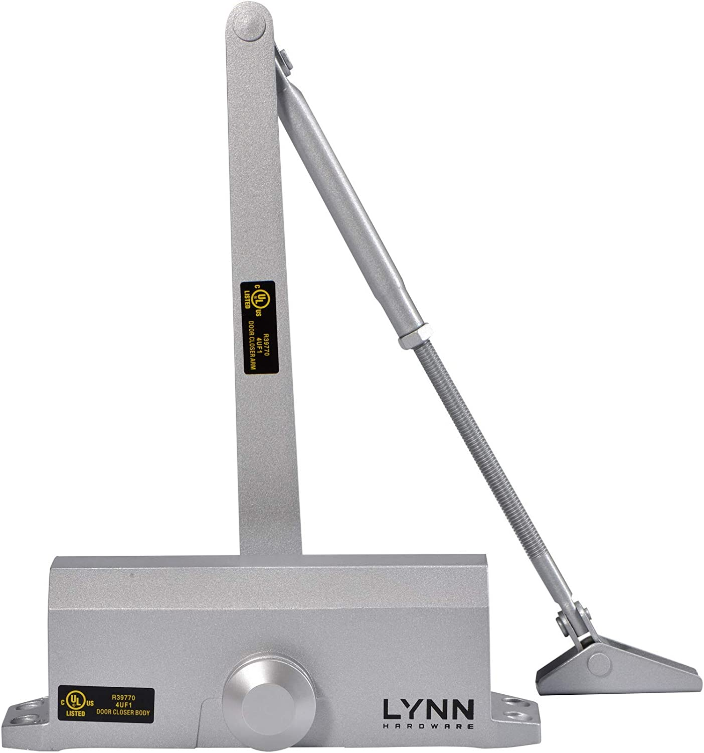 US26D Aluminum Surface Mounted Cast Aluminum Light//Medium Duty Commercial Door Closer LYNN HDWR #LH5003 UL 3 Hour Fire Rated Size 3 for Residential and Light Commercial Doors