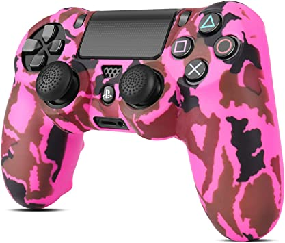 Camouflage Soft Silicone Cover Case Protection Skin for Sony Playstation 4 PS4 Dualshock 4 Controller Hot