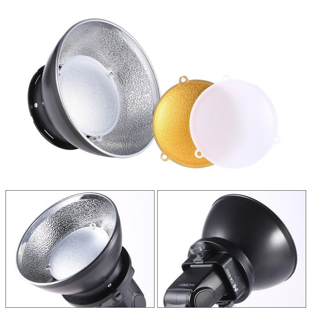 Andoer 17cm / 6.7'' Beauty Dish Diffuser Lamp Shade for Nikon Canon Yongnuo Speedlight On-camera Flash