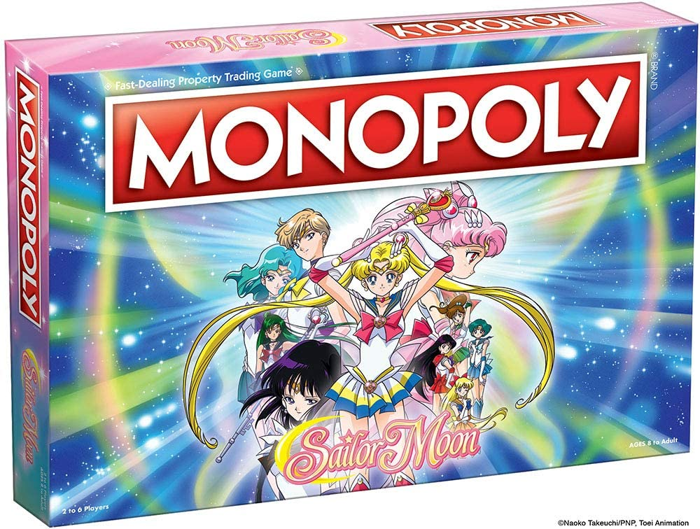 Amazon Com Monopoly Sailor Moon Board Game Based On The Popular Anime Tv Show Collectible Monopoly Featuring Custom Sailor Moon Tokens Money And Game Board Officially Licensed Sailor Moon Merchandise