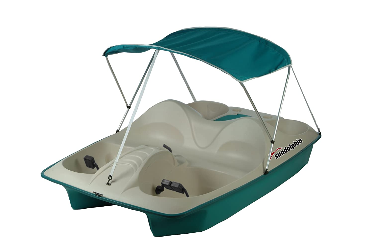 Amazon.com : Sun Dolphin 5 Seat Pedal Boat with Canopy (Blue ...