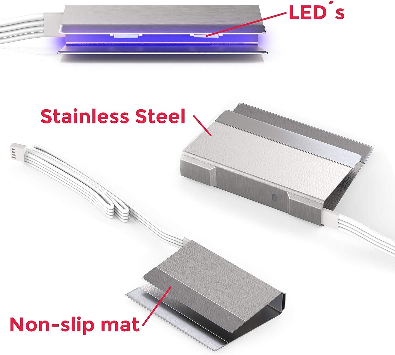 LED Glasbodenbeleuchtung Licht 16 Farben Beleuchtung Boden Glas Regal Vitrine
