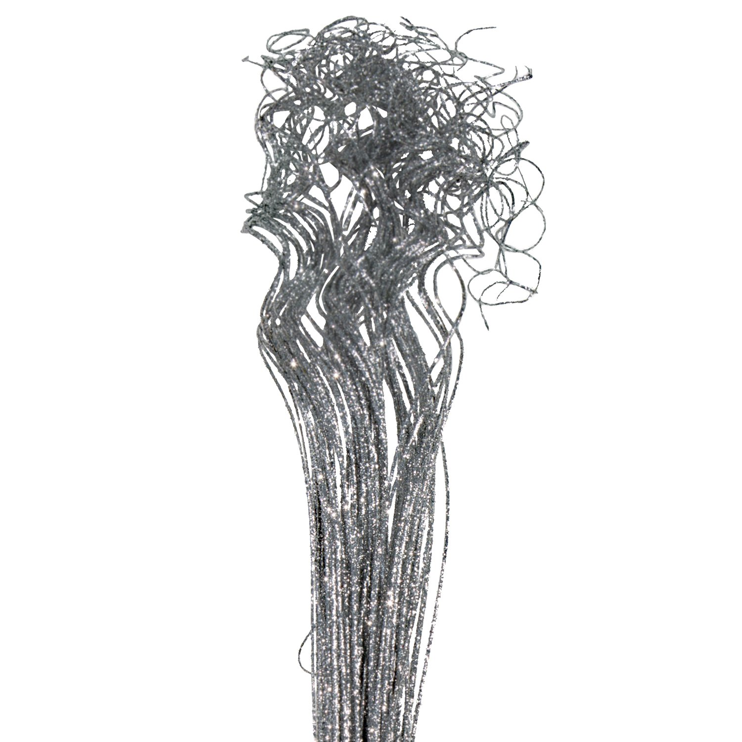 Curly Ting 2.6 Feet Tall Sparkle Silver
