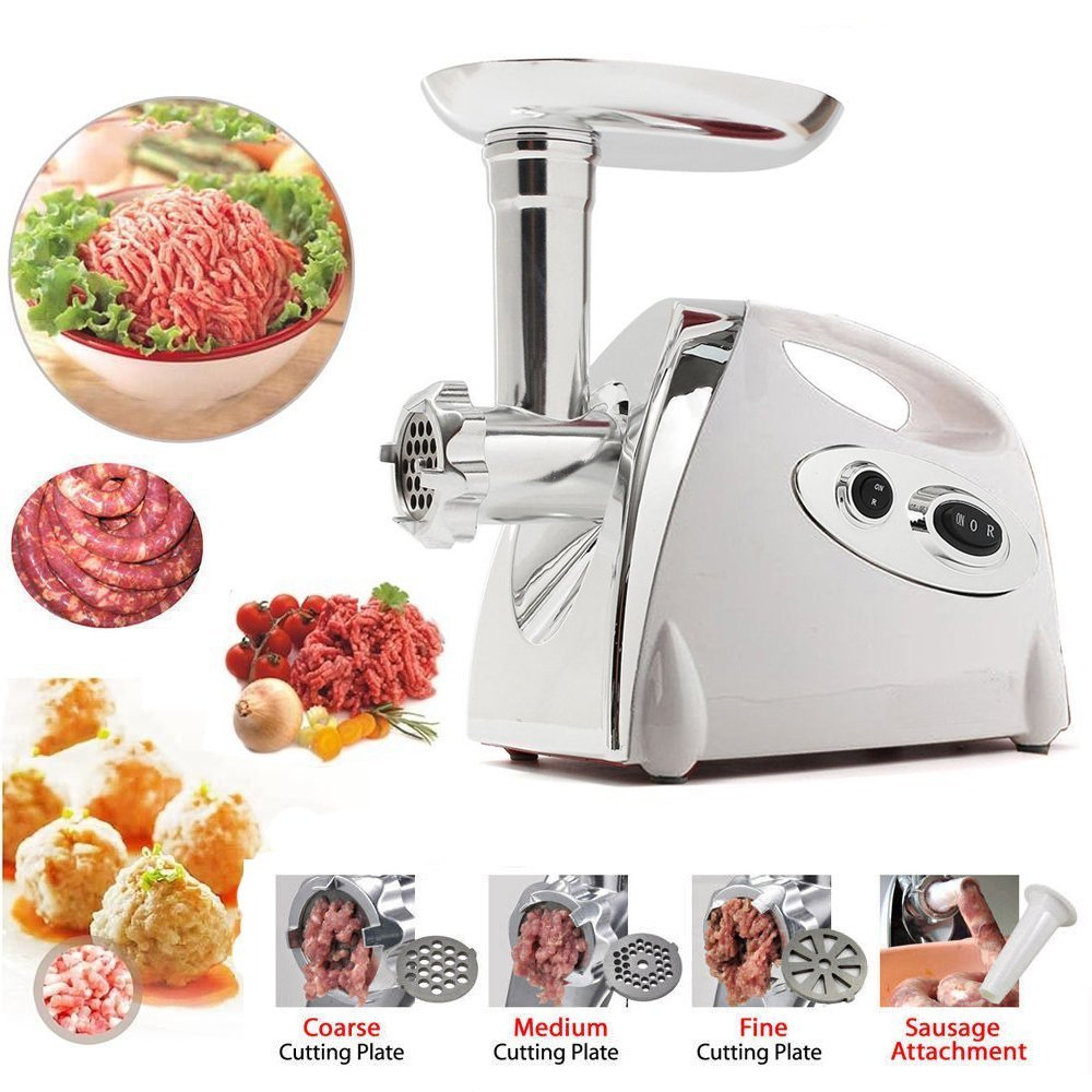 Imurz Electric Meat Grinder Stainless Steel Mincer Sausage Kebbe ...