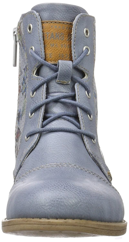 Mustang Damen 1157-548-875 Combat Boots, Blau (875 Sky), 36 EU