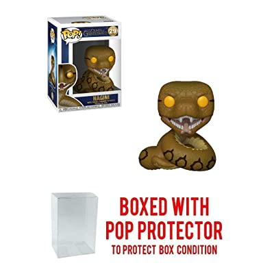 Funko Nagini: Fantastic Beasts - The Crimes of Grindelwald x POP! Vinyl Figure & 1 POP! Compatible PET Plastic Graphical Protector Bundle [#029 / 36150 - B]: Toys & Games